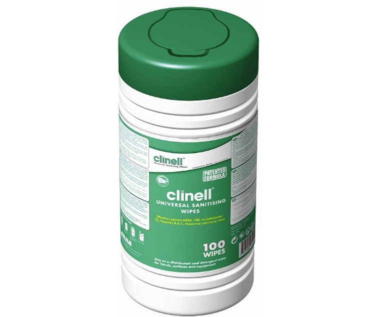 Clinell Alcohol Free Wipes (Drum of 100) Universal Skin Surface Sanitising Wipes