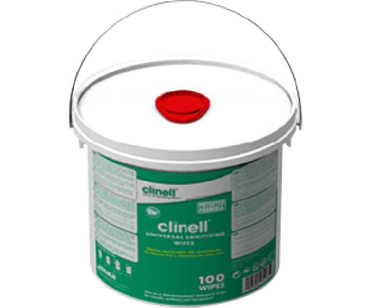 Clinell Alcohol Free Wipes (Bucket of 225) Universal Skin Surface Sanitising Wipes