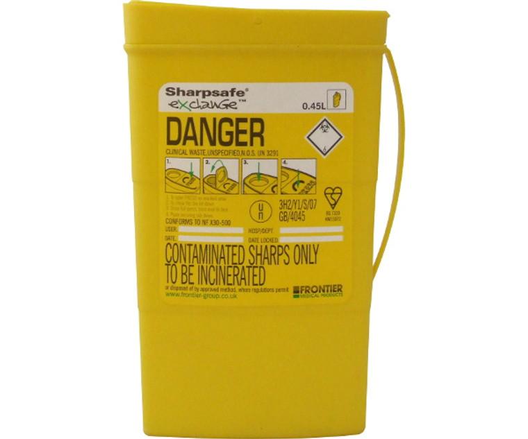 Sharpsafe Disposal Bin (0.45 Litre)