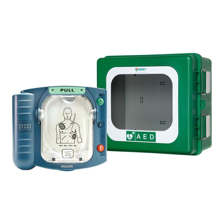 HeartStart HS1 Defibrillator with Outdoor Heated Cabinet