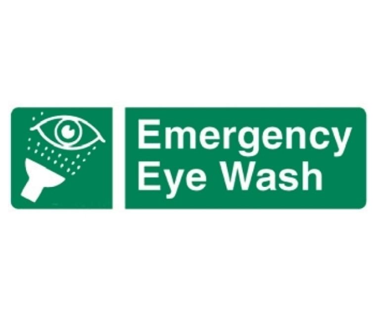 Eyewash Location Self Adhesive Sign
