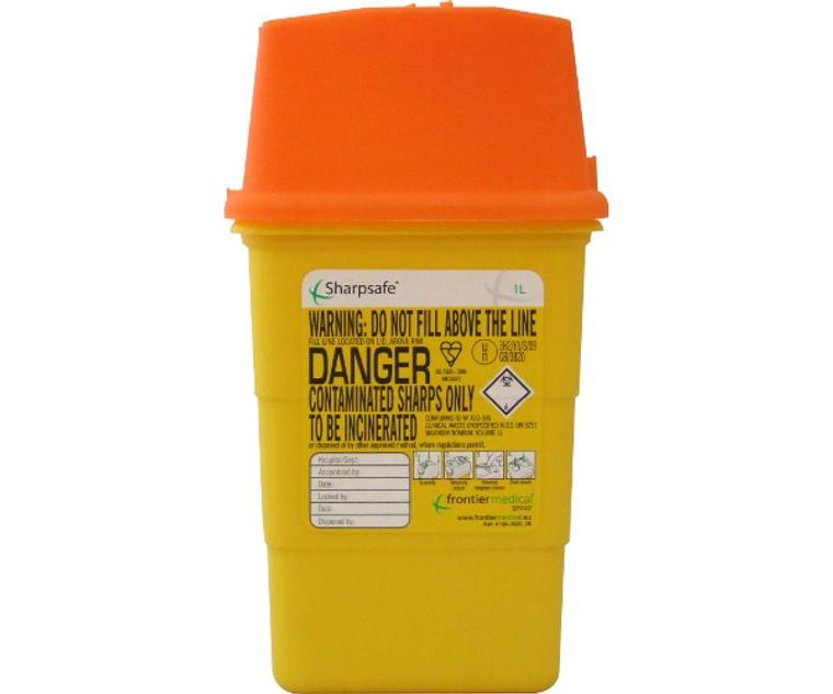 Sharpsafe Disposal Bin (1 Litre)