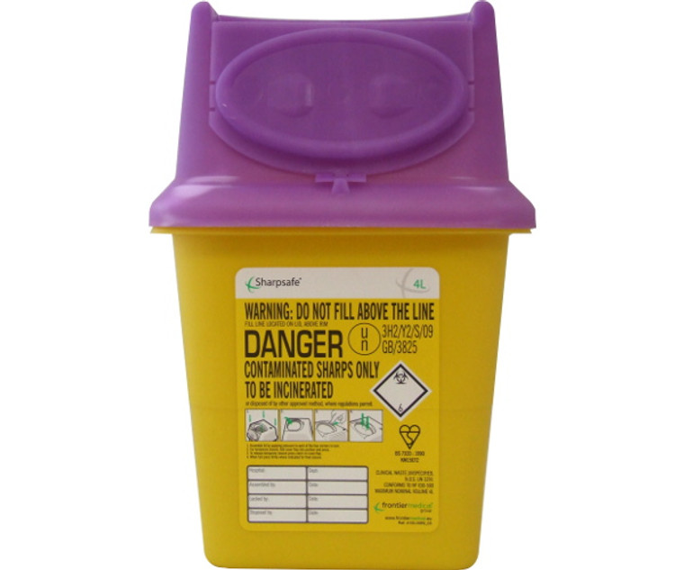 Sharpsafe Disposal Bin (4.0 Litre)