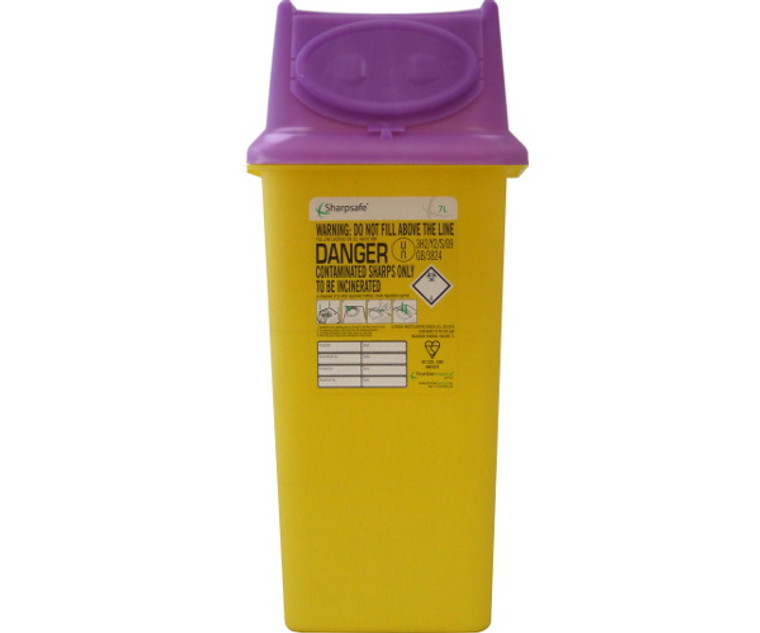 Sharpsafe Disposal Bin (7.0 Litre)