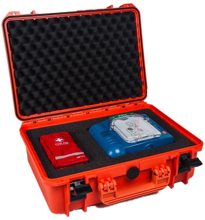 Heartstart HS1 in Waterproof Case