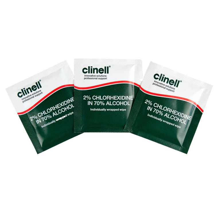 Clinell Alcohol 2% Chlorhexidine Device Wipes