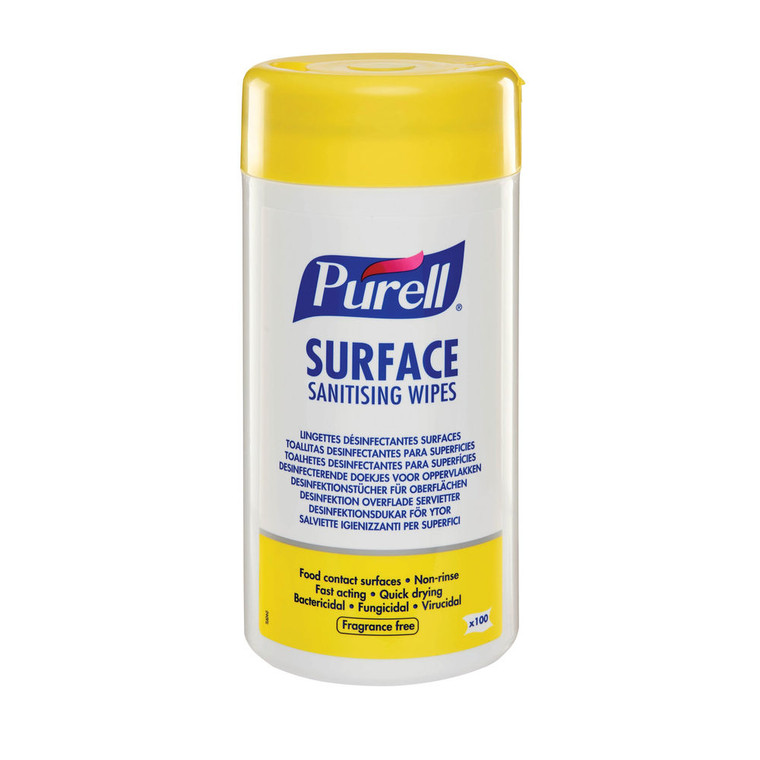 NEW Purell Surface Sanitising Wipes x 100
