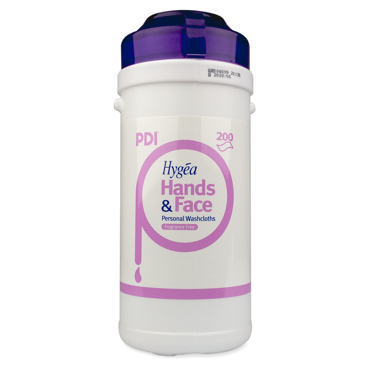 PDI Hygea Hands and Face Wipes Tub x200