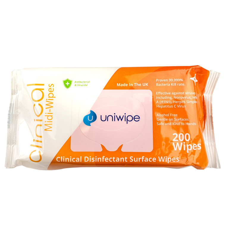 Uniwipe Clinical Disinfectant Surface Wipes x200
