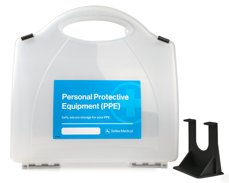 Empty Box with Personal Protective Equipment Label & Bracket