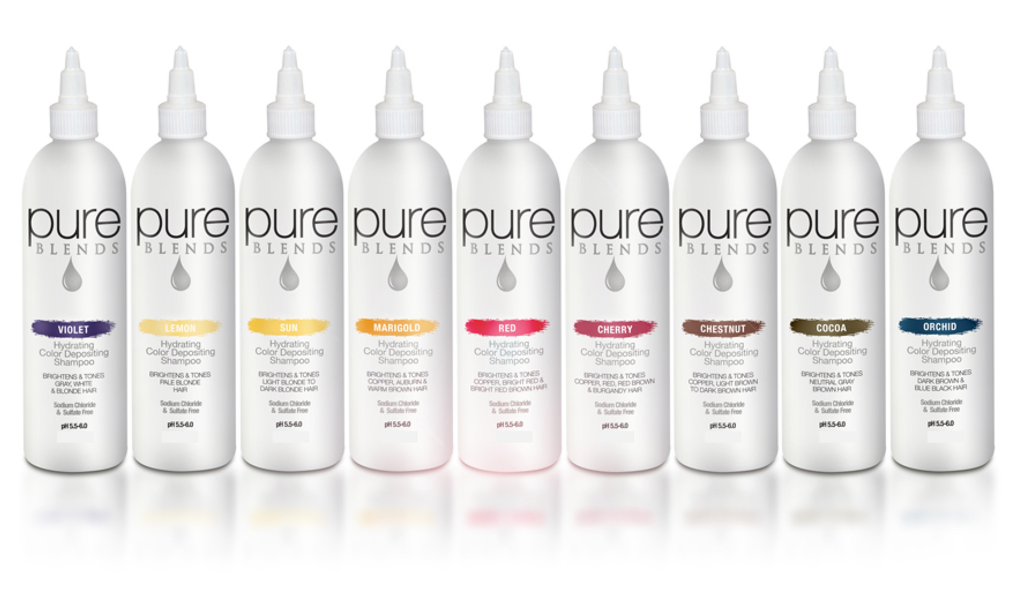 Pure Blends Colour Color Depositing Shampoo  9 different shades 120ml by Shop Salon Support - official distributor of Pure Blends Professional Hair Products, Colour Enhancing Shampoo, Colour Depositing Conditioner & Color Hair Shampoo Australia. Salon Support are Hair & Barber Barbershop Trade Wholesale Hairdressing Supplies Melbourne Australia