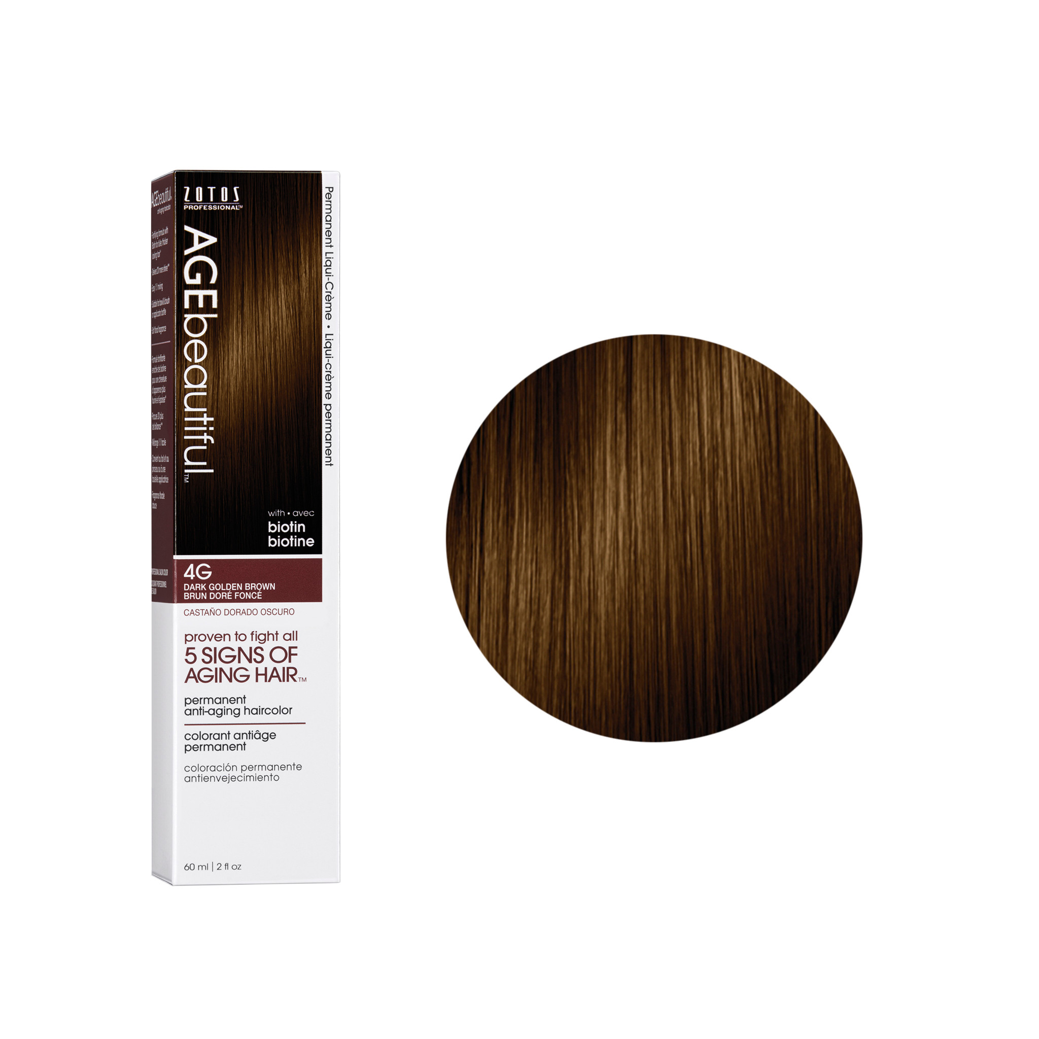 Age Beautiful is the first professional  hair colour solution to combat aging hair. Anti-aging hair colour with 100% grey coverage. Age Beautiful has been formulated using selected key ingredients proven to fight the 5 signs of aging hair.