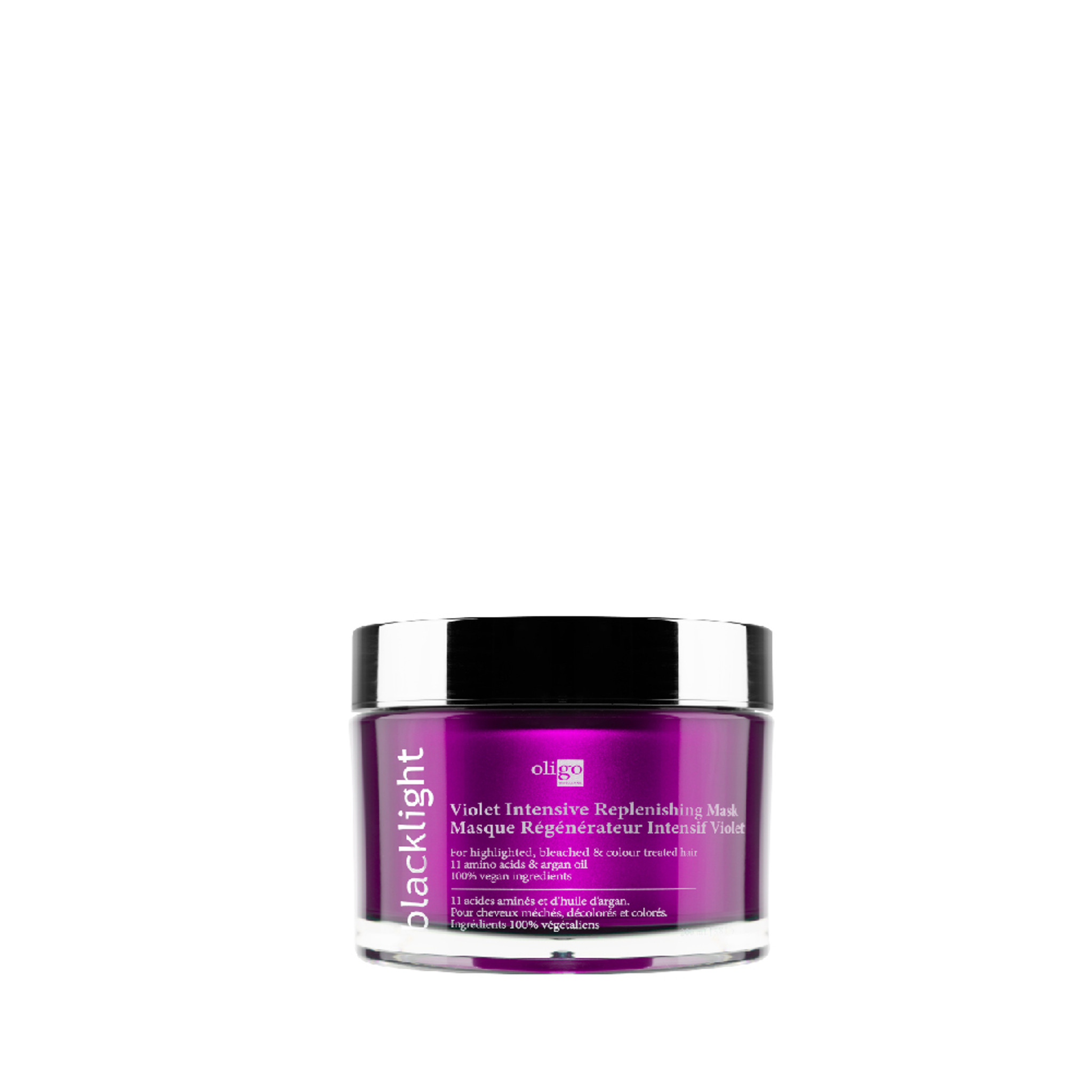 Oligo Intensive Replenishing Mask Violet formula 200ml by Shop Salon Support - buy Oligo blacklight, Hair Lightening System, Blonde Shampoo and Conditioner. Salon Support are Hair & Barber Barbershop Trade Wholesale Hairdressing Supplies Melbourne Australia. Experience the unmatched lifting power accompanied by a 100% vegan aftercare line. Oligo Pro Blacklight lightening system is the key to navigating your way through the complete spectrum of blondes.