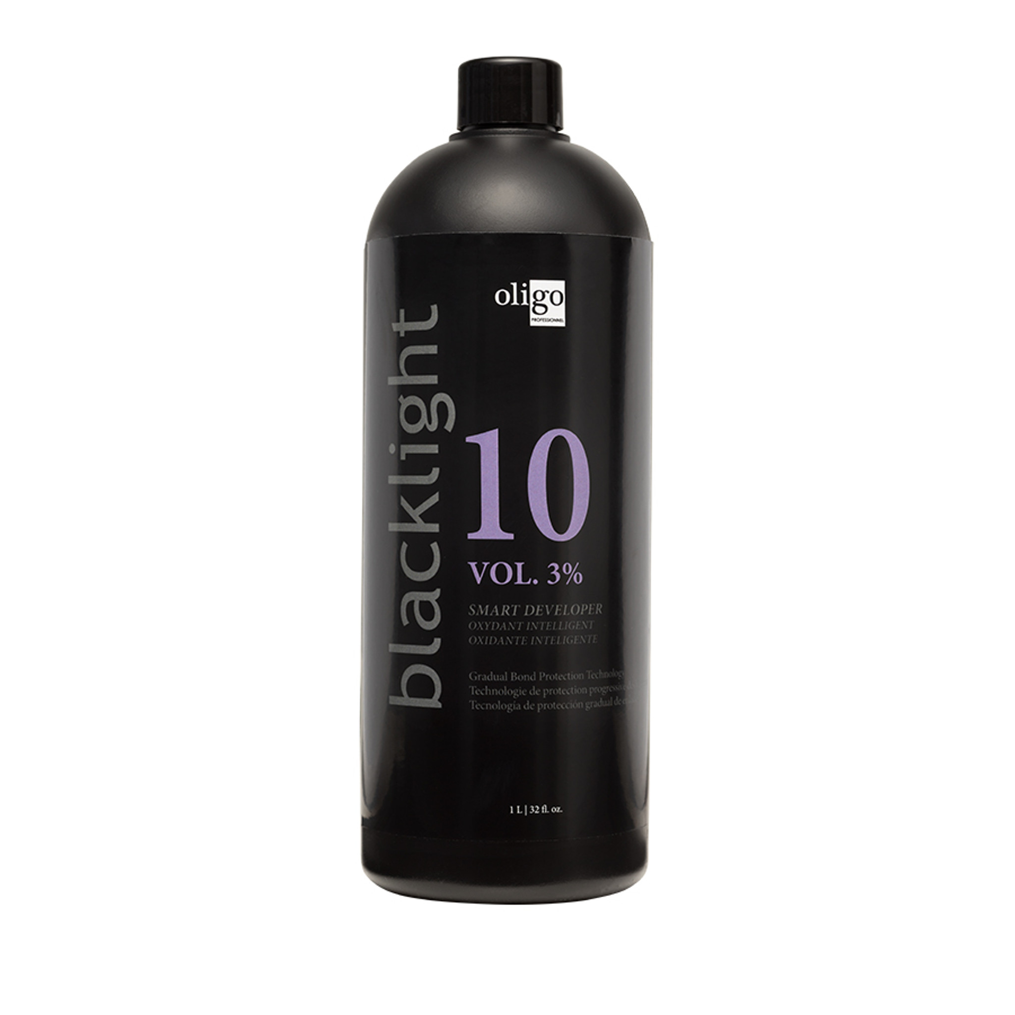 Oligo Pro Blacklight 10 Vol (3%) Smart Developer 1lt by Shop Salon Support - official distributor of Oligo in Australia, Hair & Barber Barbershop Trade Wholesale Hairdressing Supplies Melbourne Australia