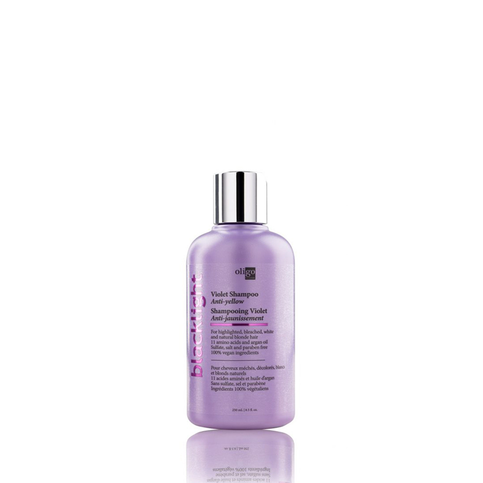 Oligo Pro Blacklight Violet (Anti-Yellow) Shampoo 250ml by Shop Salon Support - official distributor of Oligo Blacklight Professionnel Professional Hair Products, Hair Lightening System, Blonde Shampoo and Conditioner. Salon Support are Hair & Barber Barbershop Trade Wholesale Hairdressing Supplies Melbourne Australia