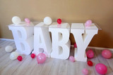 """30"""" tall and 16"""" deep BABY Table Base Foam Letters"""