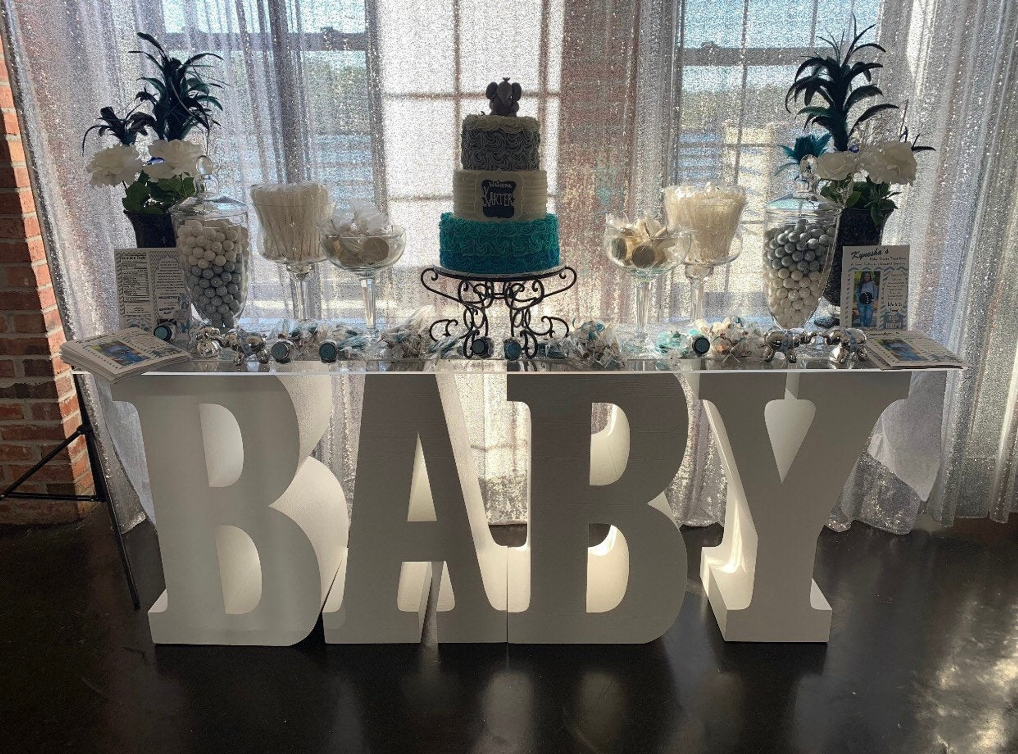 "30"" tall and 12"" deep Large BABY Table Base Foam Letters"