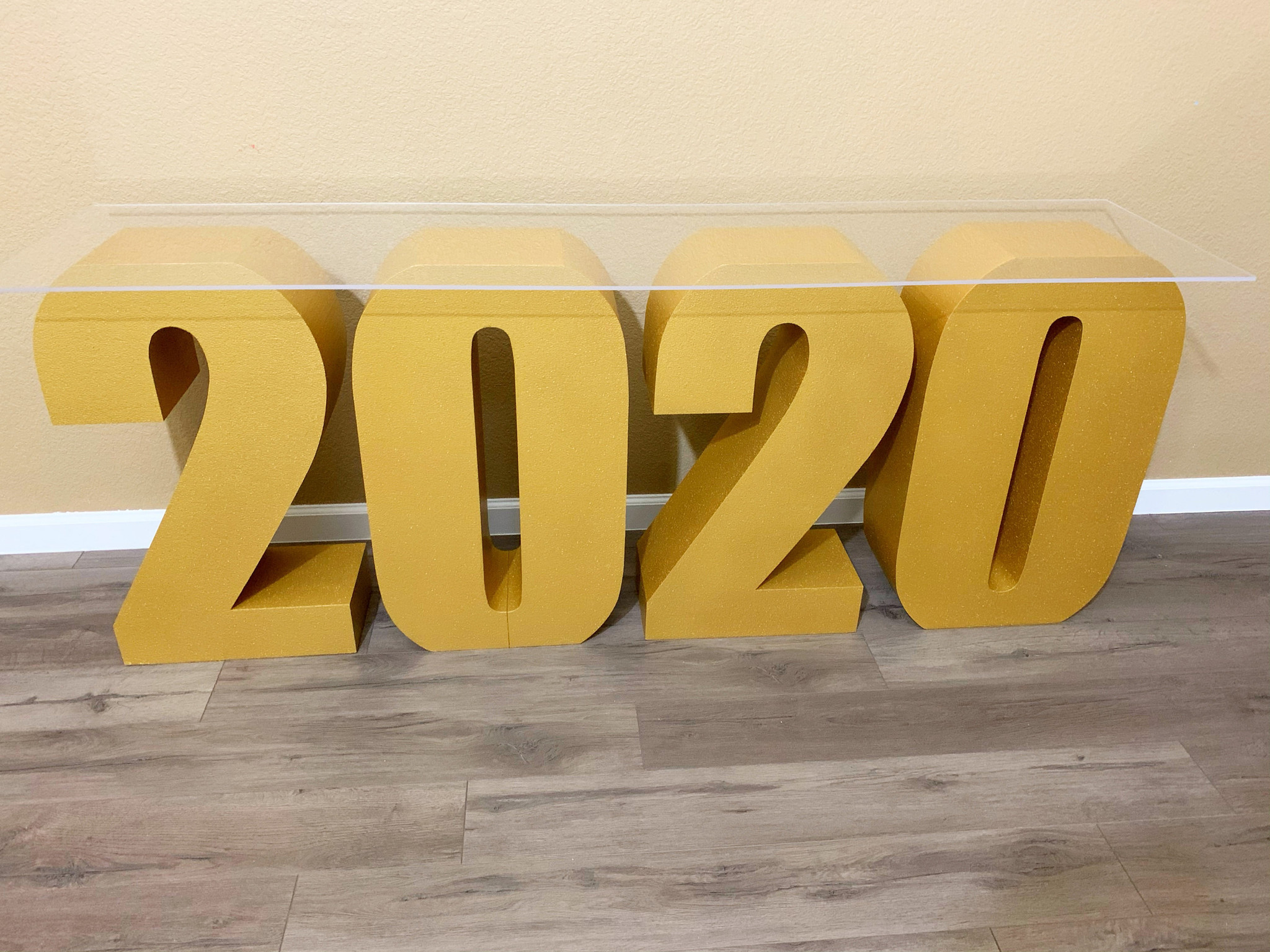 2020 Table Base Numbers, Graduation Dessert Table