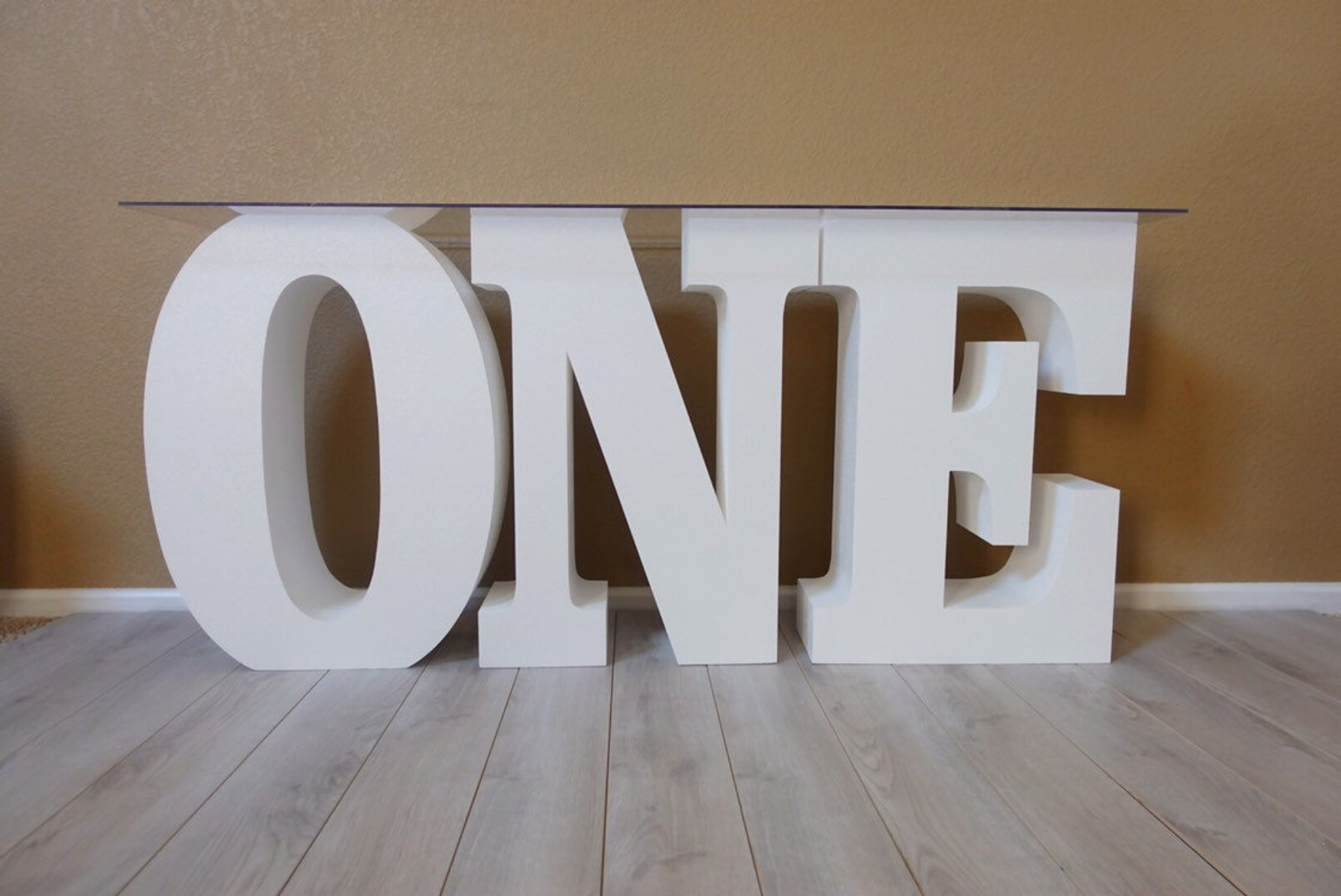 "Set of ONE Table Base Foam Letters 30"" tall and 8"" deep"