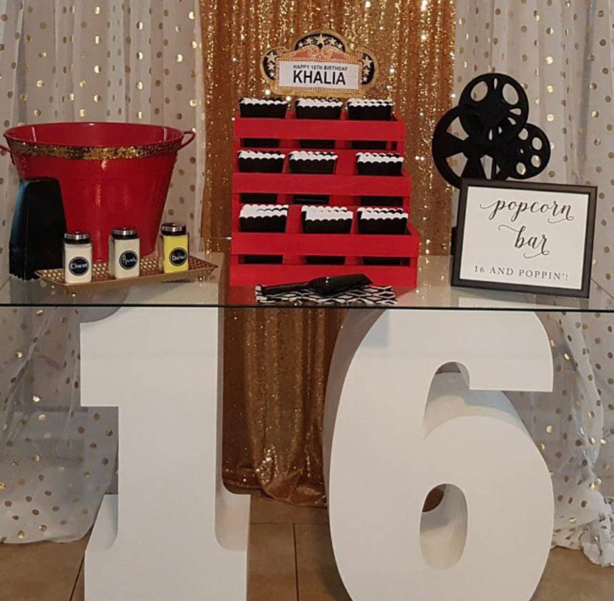 """30"""" tall and 12"""" deep Number 16 Dessert or Candy Table"""