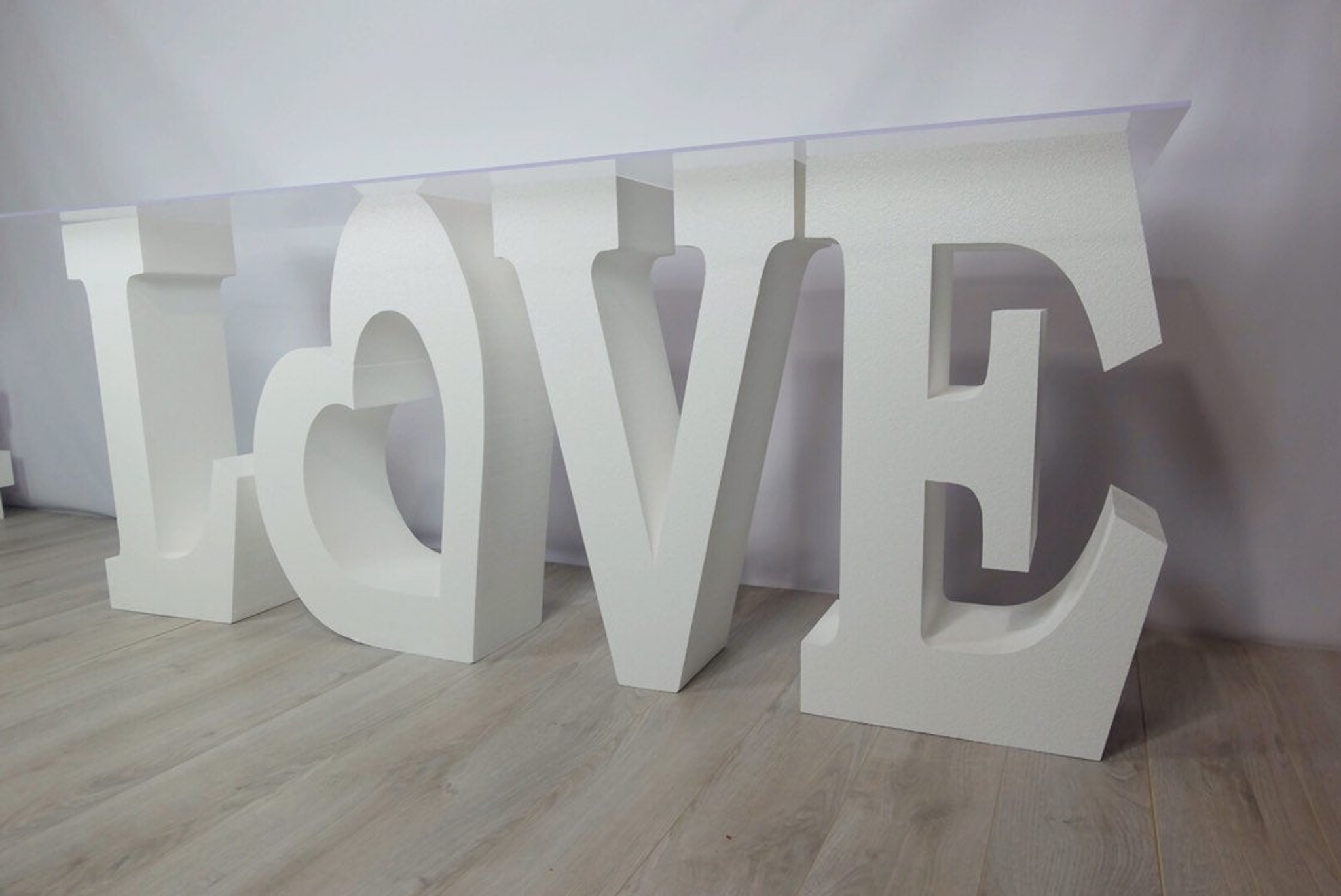 "30"" tall and 8"" deep LOVE Table Base Foam Letters"