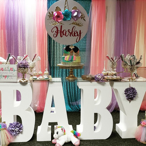 """30"""" tall Large BABY Table Base Foam Letters"""