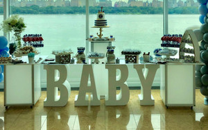 "30"" tall and 8"" deep BABY Table Base Foam Letters"