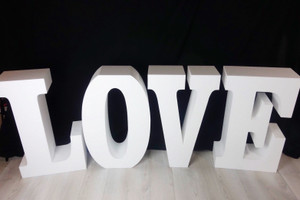 "30"" tall and 8"" deep Large LOVE Table Base Foam Letters"