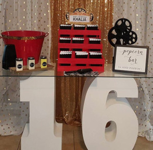 """30"""" tall and 12"""" deep Number 16 Table Base Foam Numbers"""