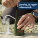 Survivor Filter PRO  Virus and Heavy Metal Tested 0.01 Micron Water Filter for Camping, Hiking and Emergency. 3 Stages - 2 Cleanable 100,000L Membranes and a Carbon Filter for Family Preparedness.