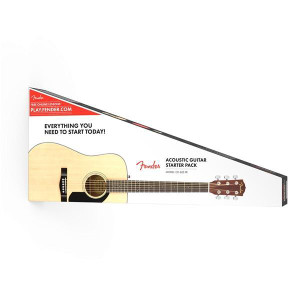 Fender	FA125S-PACK FA-125S Folk Pack Folk-Sized Acoustic Guitar, Natural Finish
