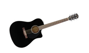 Fender CD60SCE Black  Acoustic-Electric Guitar with Walnut Fingerboard