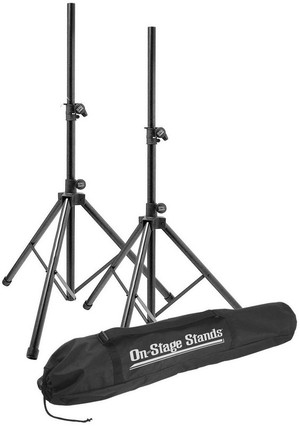 "On-Stage SSP7900  45-74.75"" Aluminum Speaker Stand Pack with 2 Stands and Carry Bag"