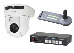 Sony SRG300H/W, RMIP10 Controller, Datavideo NVS-33 Encoder Single Camera Video Streaming Bundle