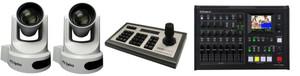 PTZOptics PT30X-SDI-G2, PT-JOY-G3 Controller, Roland VR-4HD Dual Camera Video Switching and Streaming Bundle