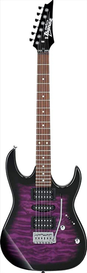 Ibanez GRX70QA Transparent Violet electric guitar