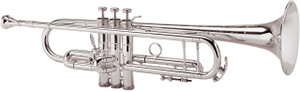 King 2055T Silver Flair Trumpet with 3rd valve Trigger