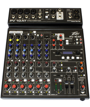 PeaveyPV10AT 10-Channel Mixer With Antares Auto-Tune