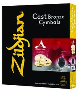 "Zildjian A20579-11 A Custom Box Set with 14"" HiHats, 16"" Crash, 18"" Crash, and 20"" Ride"