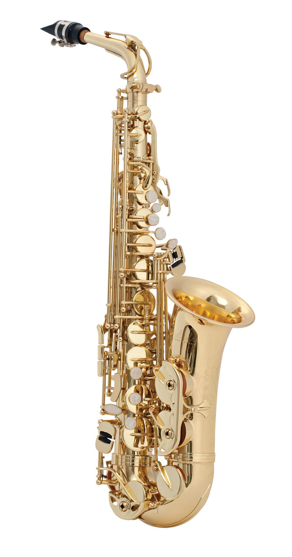 Gold lacquer body and keys, high F# key, rocking table key mechanism with articulated C# adjusting screw, molded mouthpiece, case