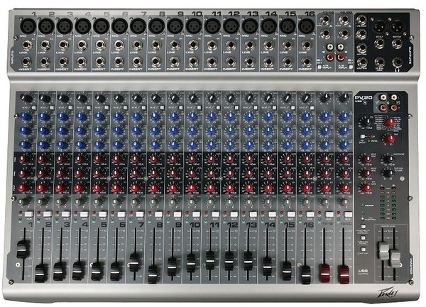 Peavey PV20USB 20-Channel Console Mixer with USB Port