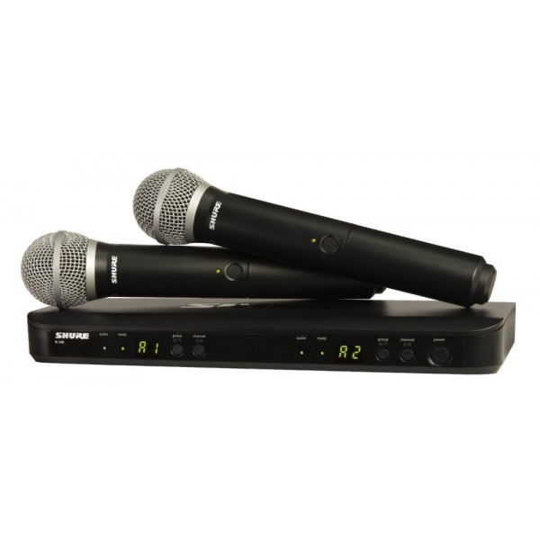 Shure BLX288/PG58 Dual Vocal System with (1) BLX88 Dual Wireless Receiver