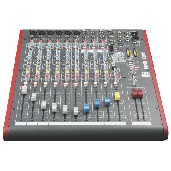 Allen & Heath ZED12FX 12 Channel Mixing Console with Built-In FX, 6 Mic Preamps