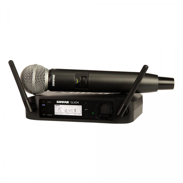 Shure GLXD24/SM58 Handheld System w/SM58 Mic