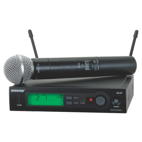 Shure SLX24/SM58 Handheld Wireless System with SM58 Mic