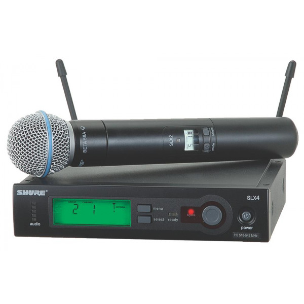 Shure SLX24/BETA58 Series Handheld Wireless System with BETA58 Mic