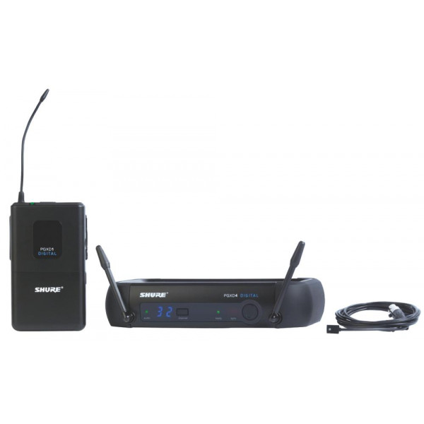 Shure PGXD14/93 Digital Wireless Lavalier System with WL93 Lav (Omni)