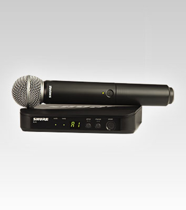 Shure BLX24/SM58 handheld vocal wireless system with SM58 handheld transmitter