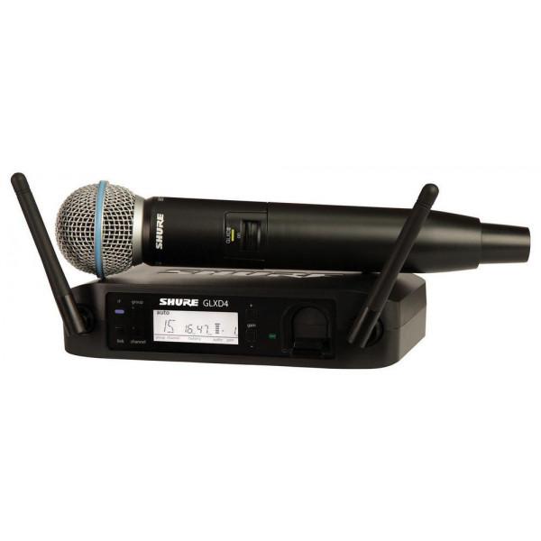 Shure GLXD24/B58 Handheld Wireless System w/Beta58 Mic