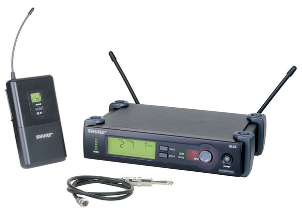 Shure SLX14 Wireless Microphone System with WA302 Instrument Cable